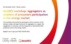 "Results from the workshop ""Aggregators as enablers of prosumers participation in the energy market"""
